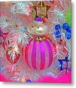 Neon Holiday Tree Metal Print
