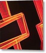Neon Maze Metal Print