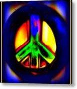 Neon Peace Metal Print