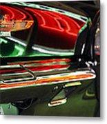 Neon Reflections Metal Print