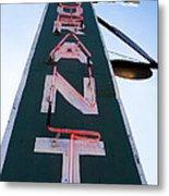 Neon Restaurant Sign Metal Print