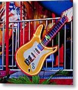 Neon Rock N Roll Metal Print