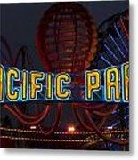 Neon Sign At Pacific Park At Santa Monica Metal Print