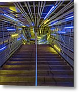 Neon Steps Metal Print by Akos Kozari