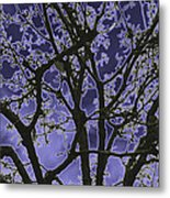 Neon Winter Tree Metal Print