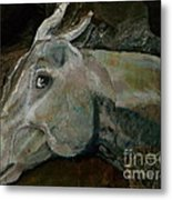 Nephrite's Horses On Stairs Metal Print