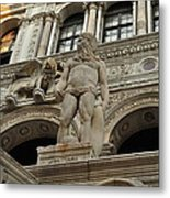 Neptune And The Lion Atop The Giants Staircase Metal Print