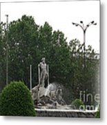 Neptune Fountain In Madrid Metal Print