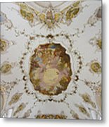 Nesselwang Church Ceiling And Organ Metal Print