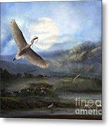 Nesting Egrets Metal Print