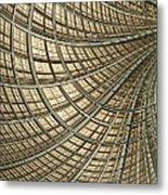 Network Gold Metal Print by John Edwards