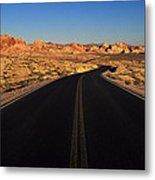 Nevada. Desert Road Metal Print