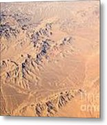 Nevada Mountains Aerial View Metal Print