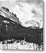 Never Summer Wilderness Area Panorama Bw Metal Print