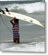 Never Too Little Never Too Big To Surf Metal Print