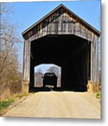 Nevins Covered Bridge Metal Print
