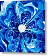 New Blue Glory Flower Art - Buy Prints Metal Print