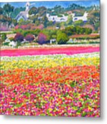 New Carlsbad Flower Fields Metal Print