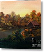 New Day In Autumn Sold Metal Print by Cynthia Adams