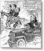 New Deal: Cartoon, 1943 Metal Print
