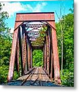 New England Bridge Metal Print