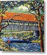 New England Covered Bridge By Prankearts Metal Print