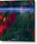 New England Fall Abstract Metal Print