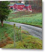 New England Farm Metal Print by Bill Wakeley