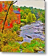 New England Stream In Fall Metal Print