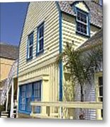 New England Style Building At Fisherman's Village Marina Del Rey Los Angeles Metal Print