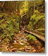 New England Waterfall Gorge Metal Print