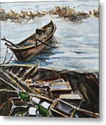 New England Wharf Metal Print
