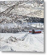 New England Winter Farms Metal Print by Bill Wakeley