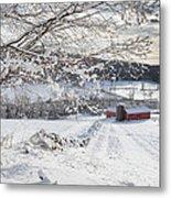 New England Winter Farms Metal Print