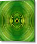 New Growth - Green Art By Sharon Cummings Metal Print