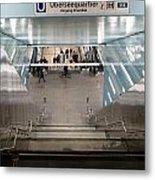 New Hafencity Station In Hamburg Metal Print