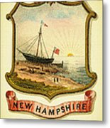 New Hampshire Coat Of Arms - 1876 Metal Print