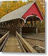 New Hampshire Covered Bridge Metal Print