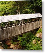New Hampshire Covered Bridge Metal Print by Ella Char