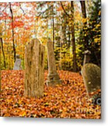 New Hampshire Mountain Cemetery Metal Print