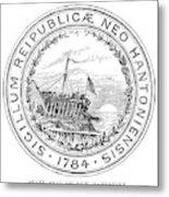 New Hampshire State Seal Metal Print