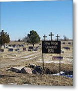 New Hope Cemetery Metal Print