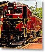 New Hope Ivyland Railroad With Cars Metal Print