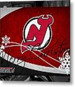 New Jersey Devils Christmas Metal Print