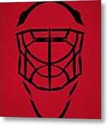 New Jersey Devils Goalie Mask Metal Print