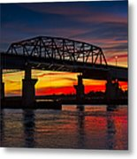New Jersey Meadowlands Sunset Metal Print
