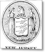 New Jersey State Seal Metal Print