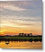 New Jersey Sunset Panoramic Metal Print