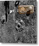 New Lock On Old Door 1 Metal Print