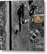 New Lock On Old Door 2 Metal Print